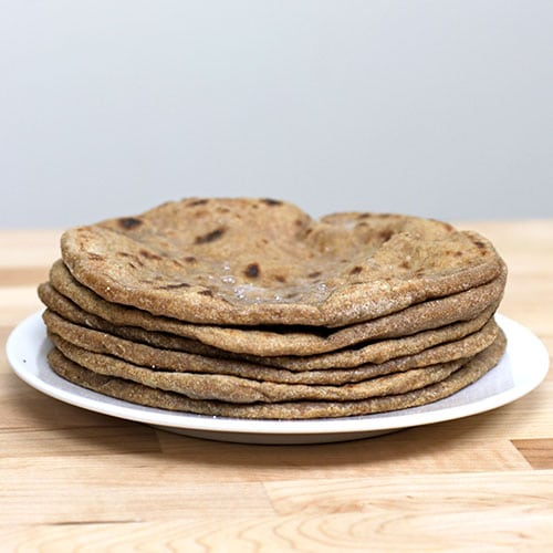 Einkorn Sourdough Chapatis {Indian Flatbread}