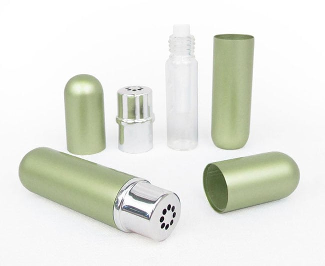 Essential oil (or aromatherapy) inhalers! Have you ever used one? They're so handy to keep in your purse or pocket and carry the benefits of essential oils with you wherever you go! Learn how to make an essential oil inhaler for seasonal allergies!