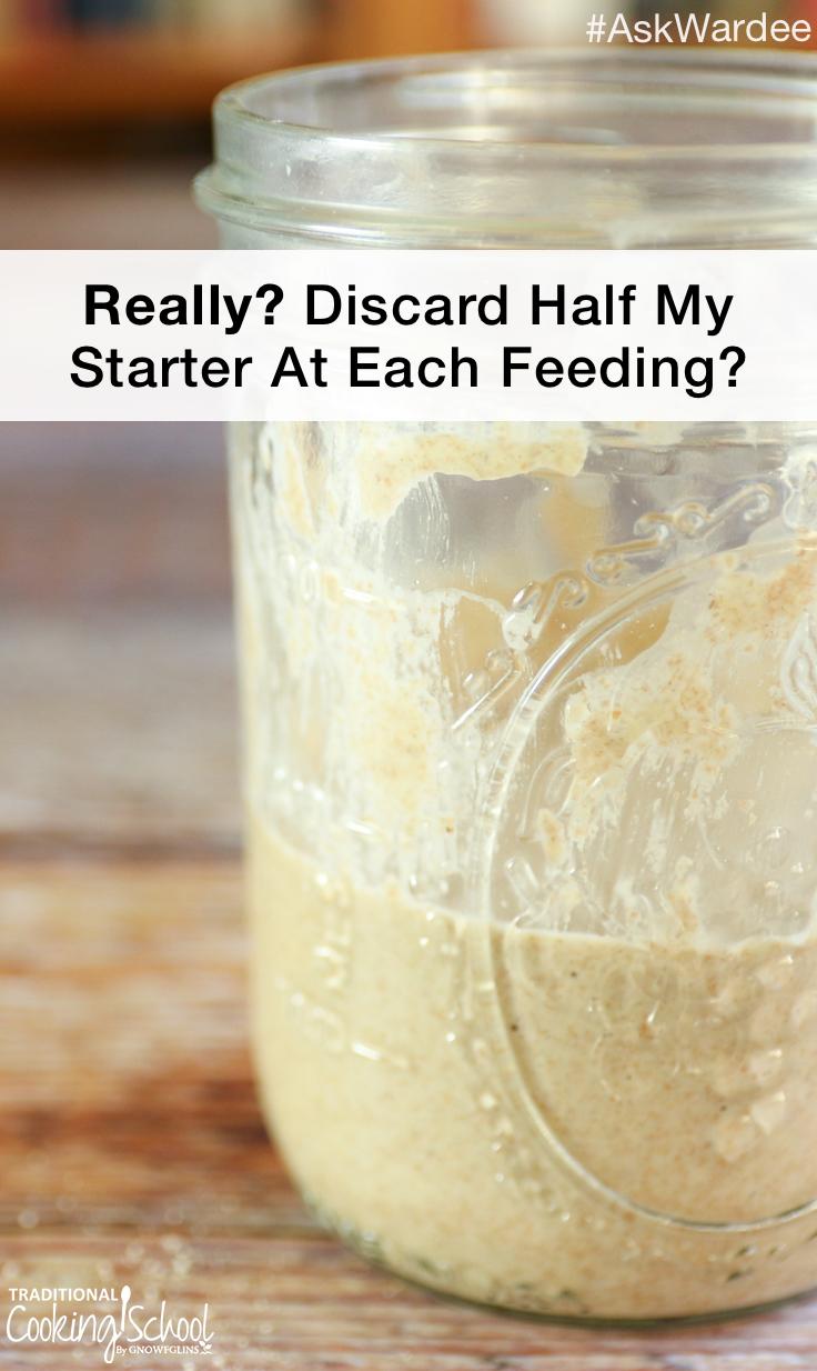 jar of sourdough starter