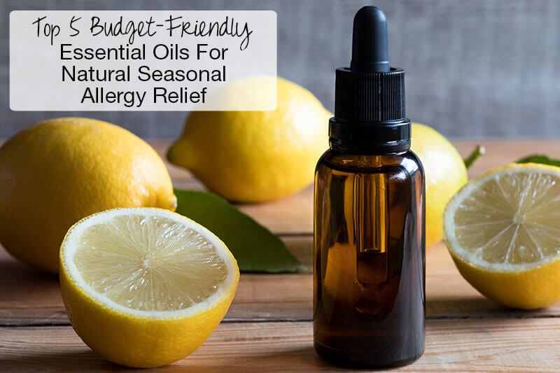 lemon essential oil in dropper bottle surrounded by lemons
