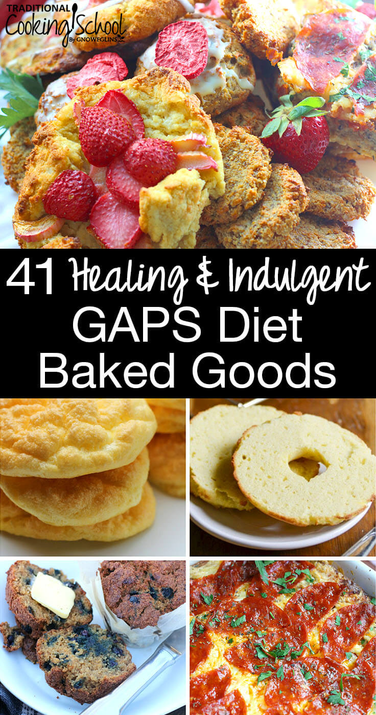 healing and indulgent gaps diet baked goods photo collage