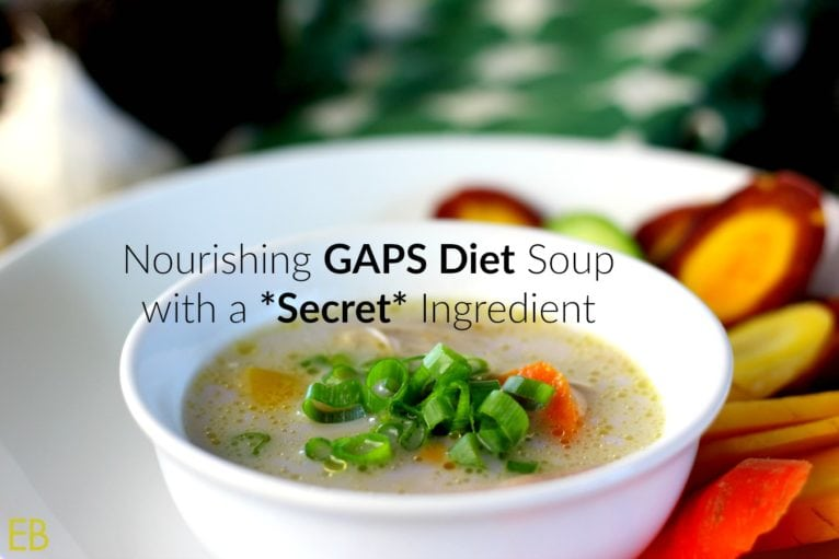 white bowl of brothy soup for gaps diet