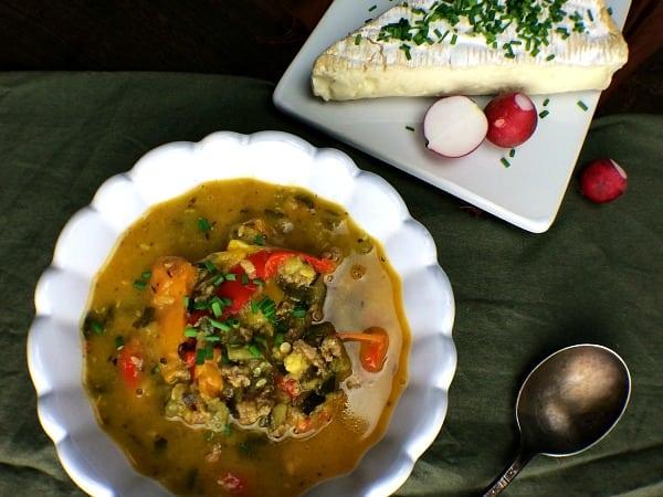 zucchini and chorizo stew