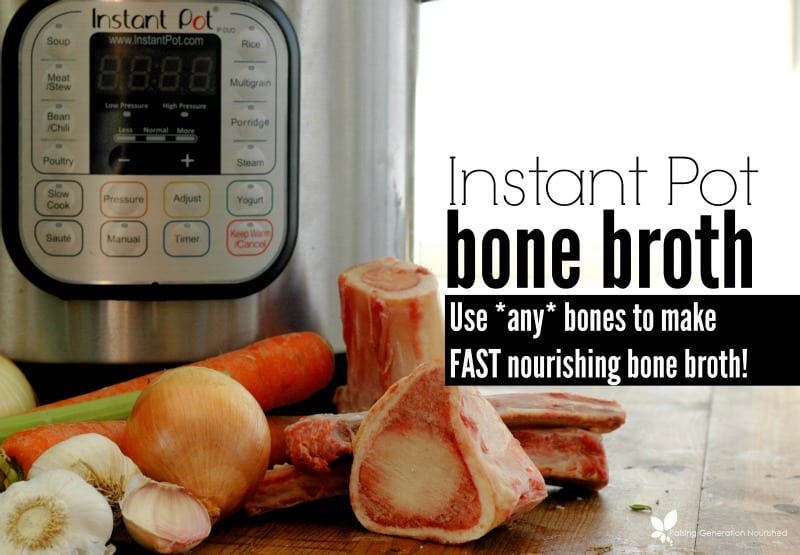 instant pot bone broth with text overlay
