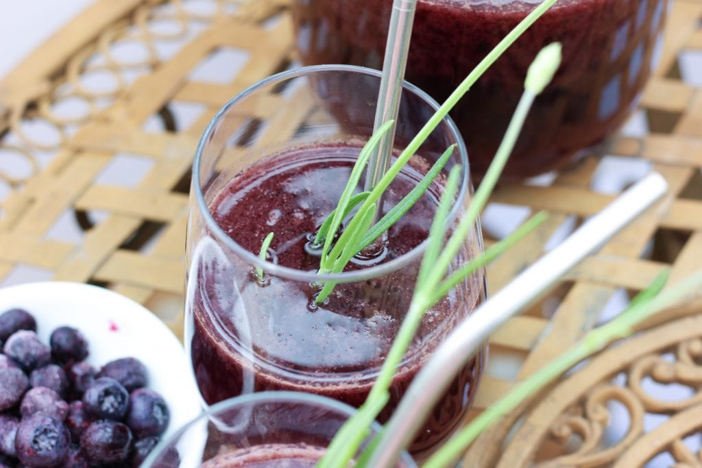 healthy fruit-herb lavender blueberry switchel