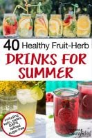40 healthy fruit-herb drinks with text overlay