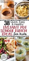 Get out your Instant Pots and get ready for the school year with this collection of healthy, hot and cold Instant Pot school lunch ideas for kids! Did you know that make ahead lunches are even easier if you use your Instant Pot? Yes! Whether your family is grain-free, dairy-free, or has a few picky eaters, we've got you covered! #tradcookschool #pressurecooking #schoollunchideas #lunchboxideas #instantpot #instantpotrecipes #healthylunch