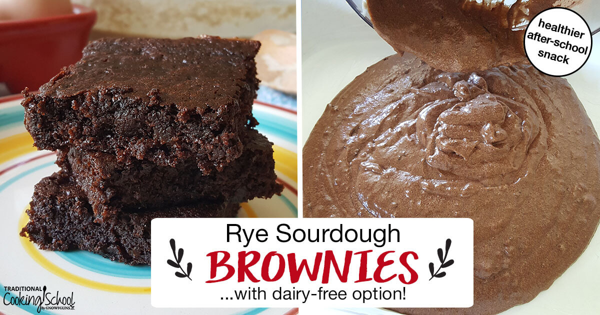 Rye Sourdough Brownies (with dairy-free option!)