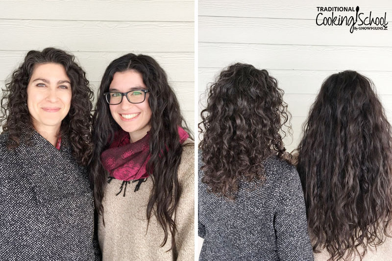 photo collage of two smiling women with dark curly hair