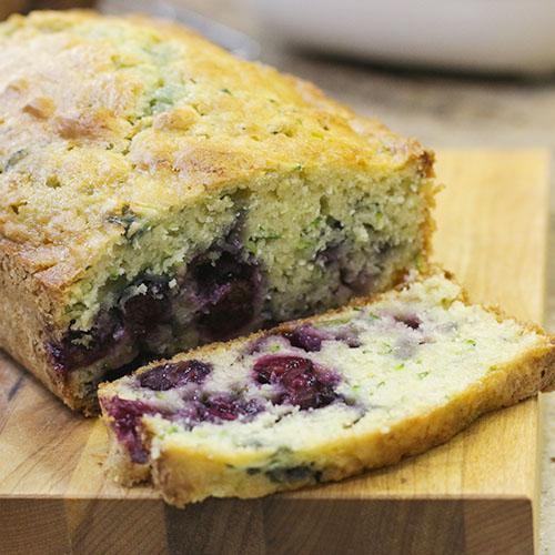 healthy recipe makeover blueberry zucchini bread
