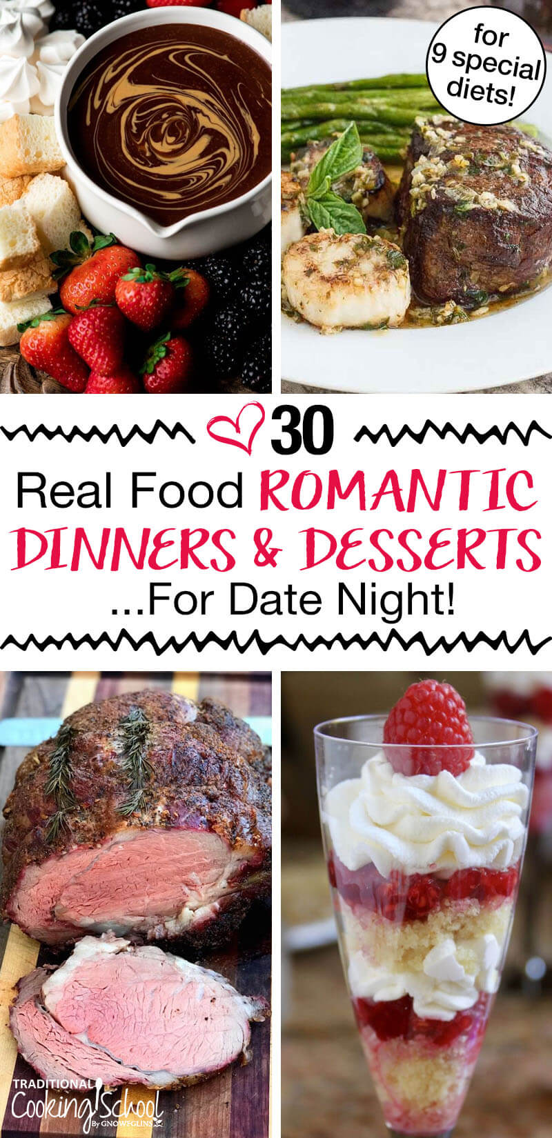 30 Real Food Romantic Dinners Dessert For Date Night