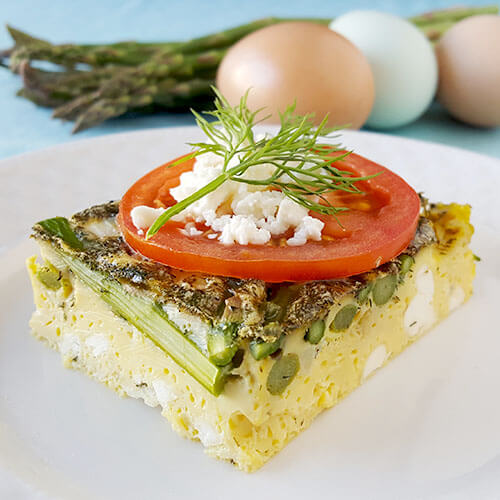 Keto Breakfast Casserole With Asparagus (THM:S & Low Carb Egg Bake)