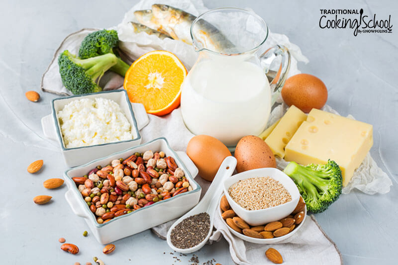 array of foods allowed on the vegetarian diet, including mostly plant-based with eggs and fish