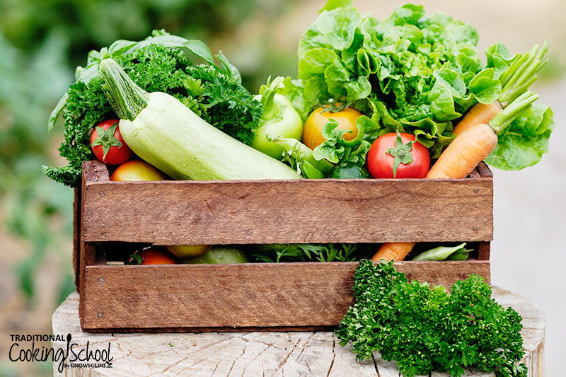 wooden crate of fresh produce