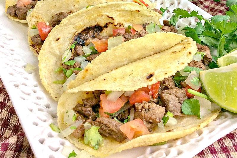 homemade tacos on a platter