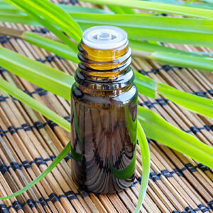 Small bottle of essential oil.