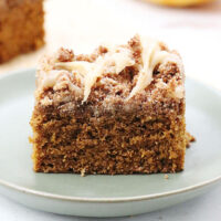 Slice of coffee cake.